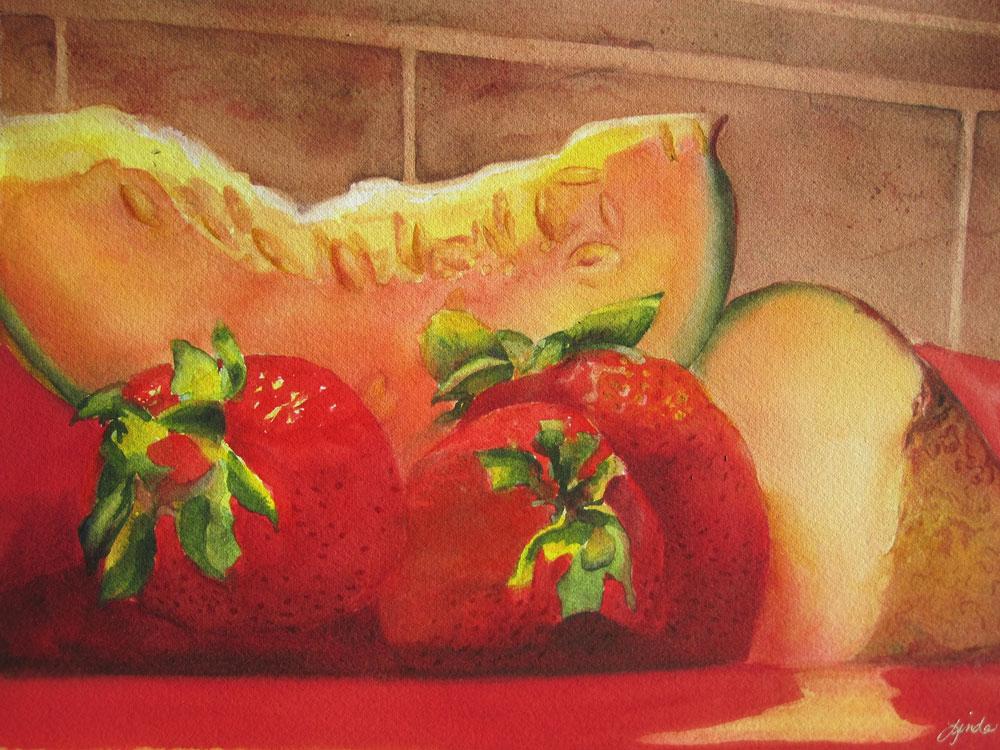 Melons & Berries Watercolor Workshop